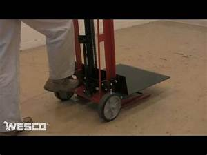 Wesco Two Wheeled Hydraulic Pedalifts In Platform Fork