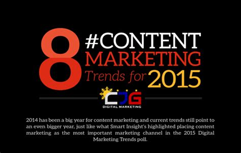 8 Content Marketing Trends For 2015 (infographic)  Cjg Digital Marketing