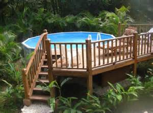 Above Ground Pool Deck Images 40 Uniquely Awesome Above Ground Pools With Decks Diy Design Decor