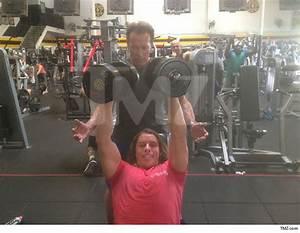 Arnold Schwarzenegger trains lovechild Joseph Baena