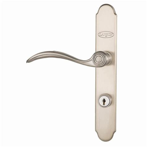larson door handle shop larson quickfit brushed nickel door matching