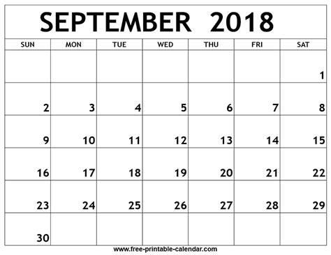september  printable calendar print  calendar