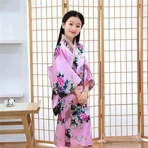 12, Colors, Children, Kimono, Traditional, Japanese, Style, Peacock, Yukata, Dress, For, Girl, Kid, Cosplay