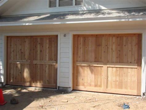 build a garage door build our own wood garage door