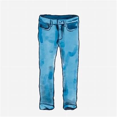 Jeans Cartoon Pantalones Clipart Mezclilla Animados Mens
