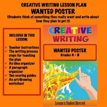 Possible relations were also sought between home environment quality, preschool education duration,. FREE Creative Writing Lesson Plan - WANTED POSTER by ...