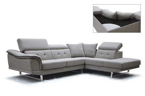 Contemporary Sectional Modern Sofa by Divani Casa Gaviota Modern Grey Fabric Sectional Sofa