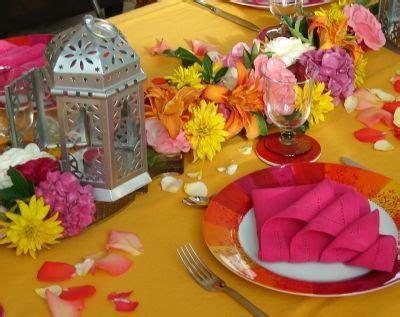 decoration de table hindou