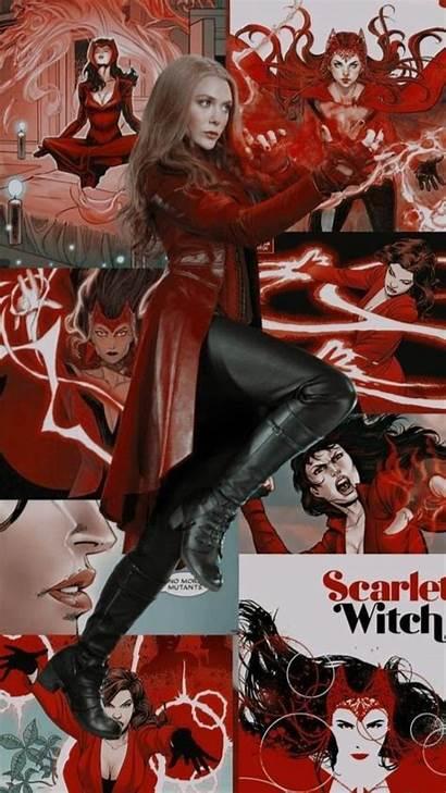 Wanda Witch Scarlet Maximoff Widow Marvel Lockscreens