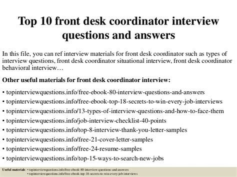 it help desk interview questions top 10 front desk coordinator interview questions and answers