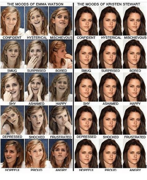 The Moods Emma Watson Kristen Stewart