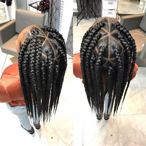 large triangle part box braids