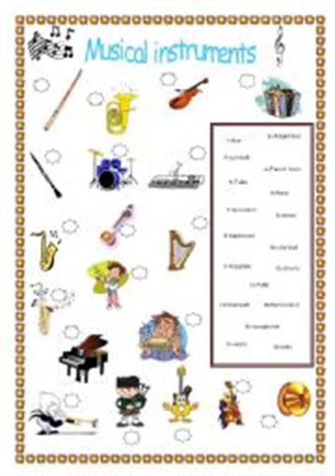musical instruments esl worksheet  elo