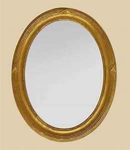 Miroir Doré Ancien : miroir ancien ovale bois dor ~ Teatrodelosmanantiales.com Idées de Décoration
