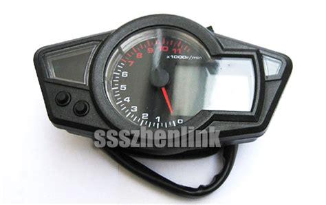 New Lcd Digital Odometer Speedometer Tachometer Motorcycle
