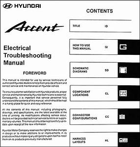 2004 Hyundai Accent Electrical Troubleshooting Manual Original