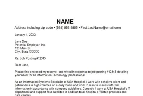 what information goes on a cover letter