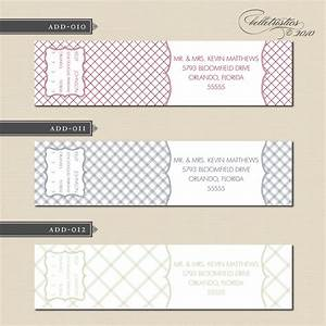 belletristics stationery design and inspiration for the With custom envelope labels