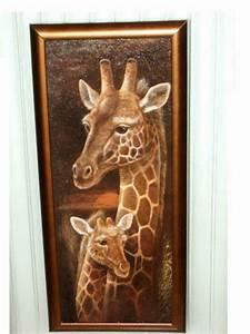 african safari giraffe framed plaque glass wall art With giraffe wall art