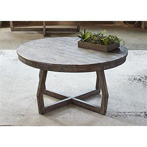rustic gray coffee table modern rustic reclaimed gray wood round console cocktail