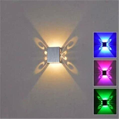 new butterfly 3w led wall sconce mounted light fixture modern l aluminum effect wall light