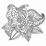 Coloring Adult Frame Ethnic Floral Drawn Doodle Patterned Ornamental Artistic Royalty Tattoo Vector sketch template