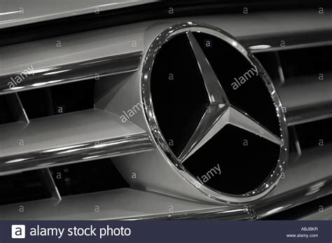 Mercedes Benz Logo Star Emblem On A Grill Of Mercedes Sl