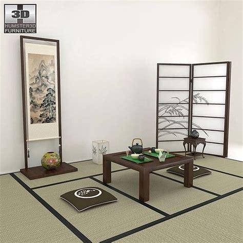 japanese tea room  model cgtrader