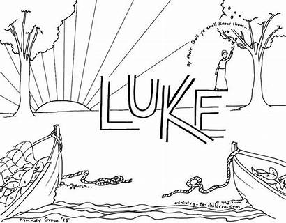 Luke Coloring Bible Pages Children Books Ministry