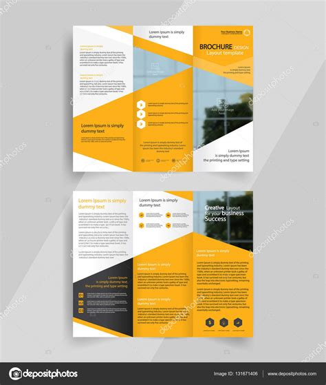 Free Orange Business Tri Fold Brochure Template Psd Titanui Business Tri Fold Brochure Layout Design Template Stock