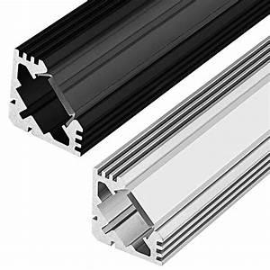 Led Strip Profil : corner accent aluminum profile housing for led strip lights klus 45 alu series super bright leds ~ Buech-reservation.com Haus und Dekorationen