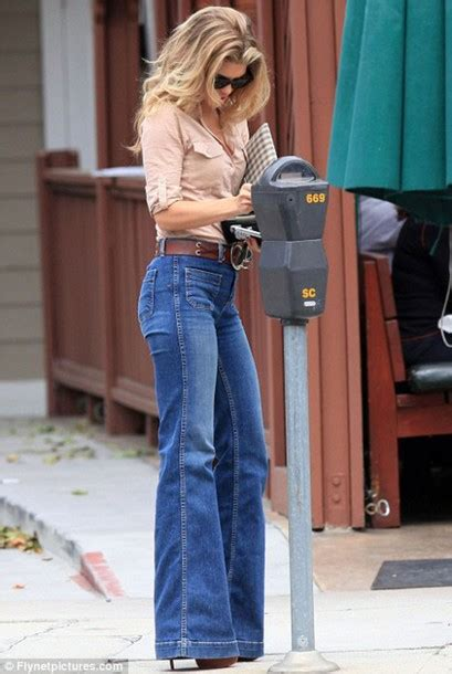 jeans  style bell bottoms high waisted flare jeans