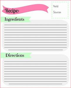 full page recipe template for word - 89 recipe cards template for word free recipe template