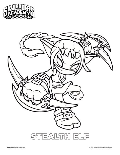 coloring paper free skylanders stealth coloring page colortherapy
