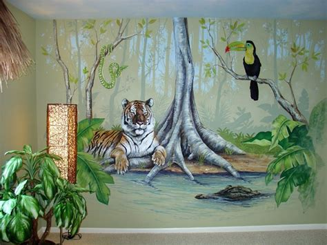 Safari Themed Living Room by Jungle Room Tropical Bedroom Chicago By Joe Helms