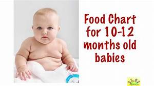 Food Chart 10 11 12 Months Old Babies 10 12 Months Baby