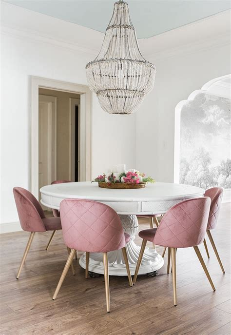 dining room reveal riverside retreat pink dining rooms dining chairs dining room sets