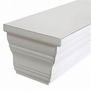 Wandregal Holz Weiß : wandregal greta wei in stuckoptik wandkonsole aus holz landhausstil ~ Orissabook.com Haus und Dekorationen