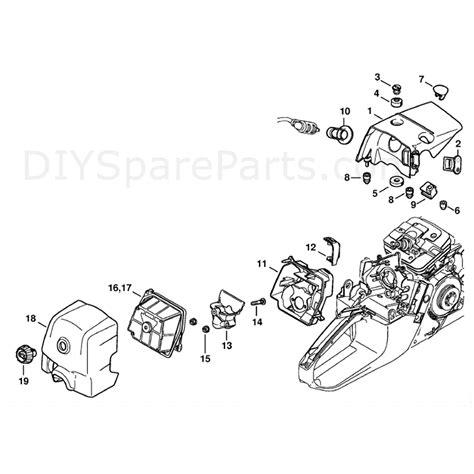 Stihl Ms 341 Chainsaw Ms341 Z Parts Diagram Shroud
