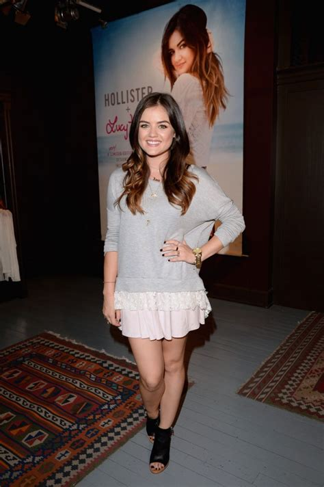 Lucy Hale at Lucy Hale Hollister Clothing Collection ...