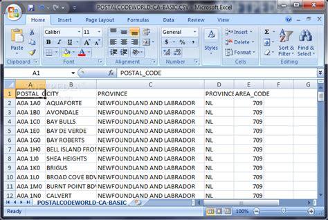 Download Canadian Postal Code Database (basic Edition) May