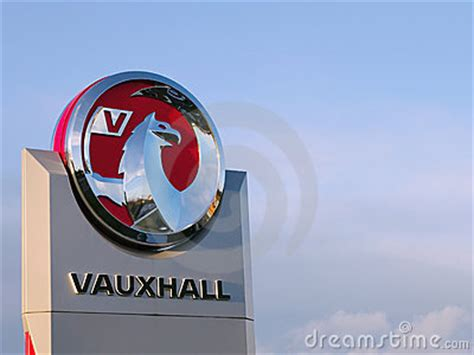 vauxhall griffin vauxhall motors griffin logo editorial photography image