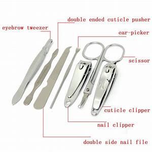 7pcs Nail Clipper Set Manicure Tools Pedicure File Cleaner ...