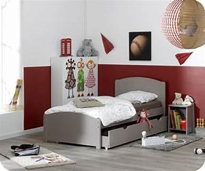 Lit Garçon Pas Cher : pack lit enfant nature lin 90x190 cm avec sommier et matelas ~ Teatrodelosmanantiales.com Idées de Décoration