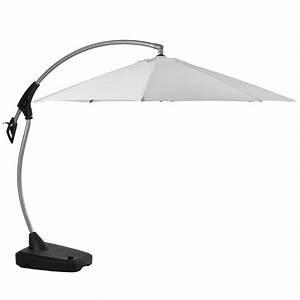 Parasol Déporté Aluminium : parasol d port en aluminium amalfi toile blanche diam tre 3m jardin acheter ce produit ~ Teatrodelosmanantiales.com Idées de Décoration