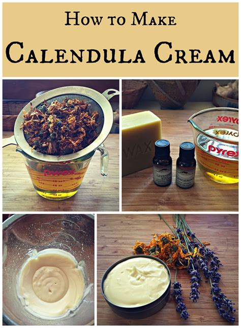 calendula cream recipe  images homemade lotion
