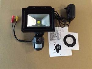 Security surveillance covert camera with flood light