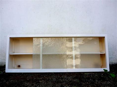 Sliding Glass Cupboard Doors by Vintage Retro 50s 60s Kitchen Wall Unit Cupboard W