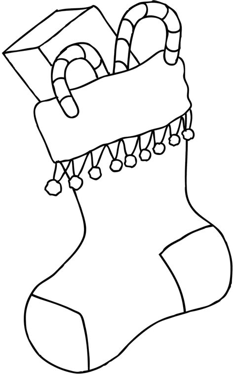 christmas stocking coloring pages  coloring pages  kids