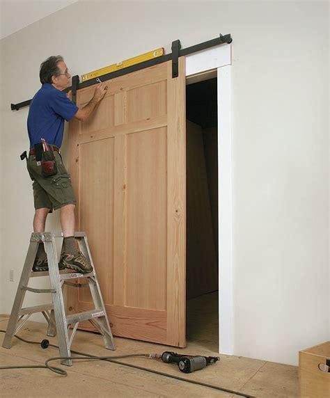 installing a barn door how to install a sliding barn door homebuilding